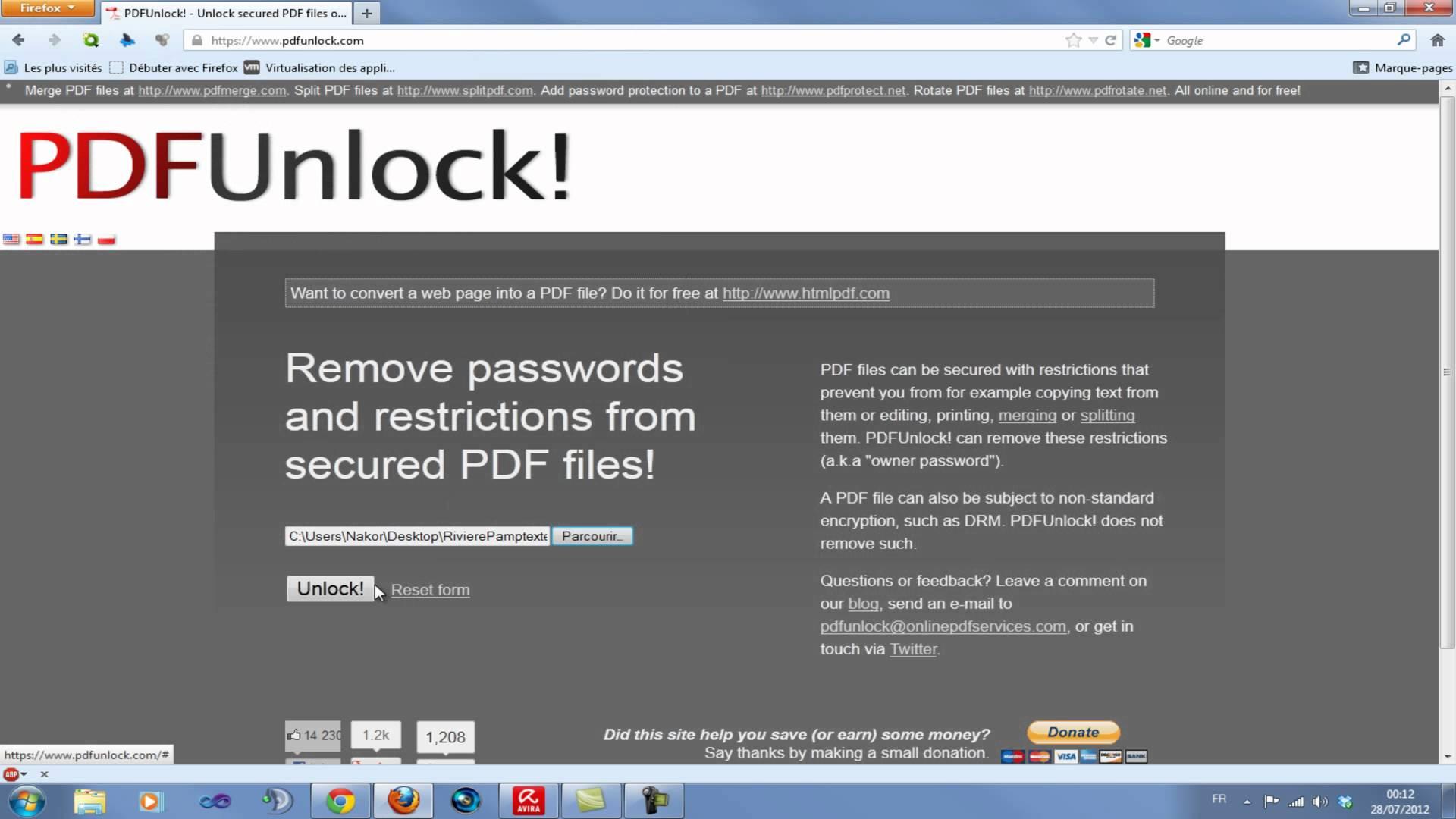 comment modifier un pdf protege